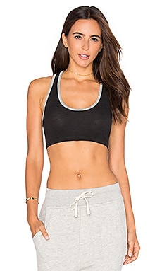 SUNDRY Sports Bra in Old Black