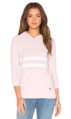 SUNDRY Striped Hoodie in Pink
