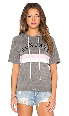 Sundays Stripes Short Sleeve Sweatshirt en Gris Chiné