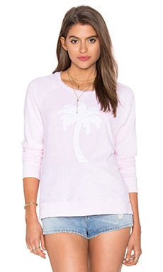 SUNDRY Palm Sweatshirt in Rose