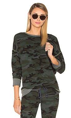 Brushed Terry Pullover in Charcoal Camo
