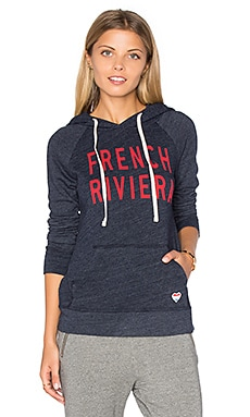 SUNDRY Fleece French Riviera Hoodie in Navy