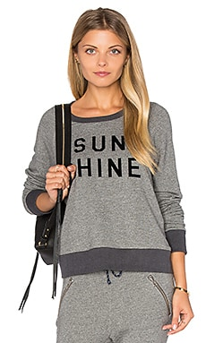 SUNDRY Sunshine Flock Pullover in Heather Grey