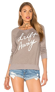 SUNDRY Fleece Drift Away Sweatshirt in Mink