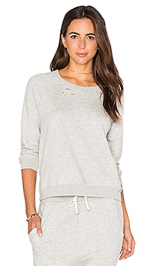SUNDRY Terry Sweatshirt in Heather Grey
