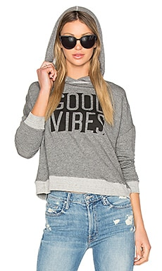 Good Vibes Hoodie in Heather Grey
