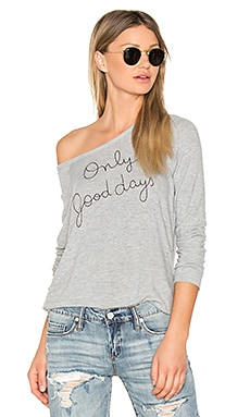 Only Good Days Sweatshirt in Heather Grey