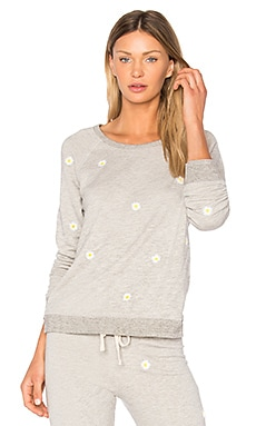 Daises Sweatshirt in Heather Gray