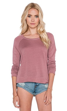 SUNDRY Crop Pullover in Mauve
