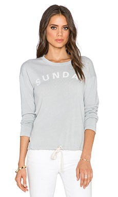 SUNDRY Sunday Tie Sweatshirt in Pebble Pigment
