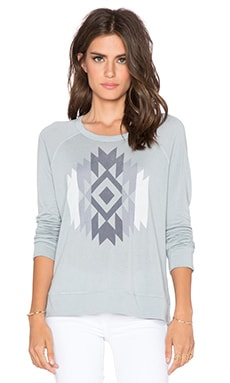 SUNDRY Native Crop Pullover in Rain