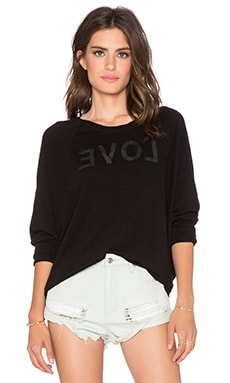 SUNDRY Back To Love Dolman Pullover in Black