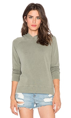 SUNDRY Pullover Hoodie in Army Pigment