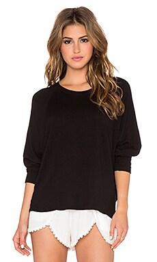 SUNDRY Dolman Pullover in Black