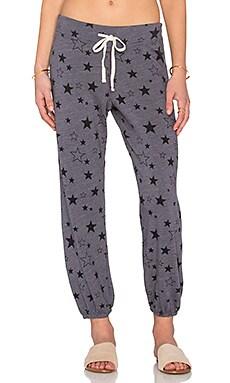 SUNDRY Star Pattern Classic Sweatpant in Ash