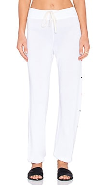 SUNDRY Side Shapes Classic Sweatpant in White