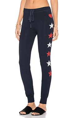 SUNDRY Side Shapes Skinny Sweatpant in Navy