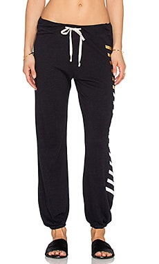 SUNDRY Side Stripes Basic Sweatpant in Midnight