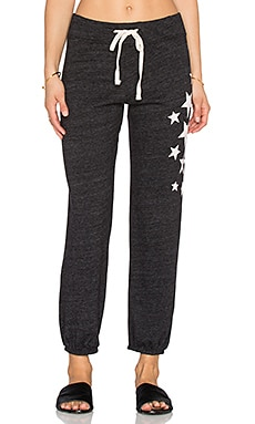 SUNDRY Side Stars Classic Sweatpant in Black