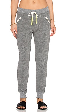 SUNDRY Zipper Sweatpant in Heather Grey