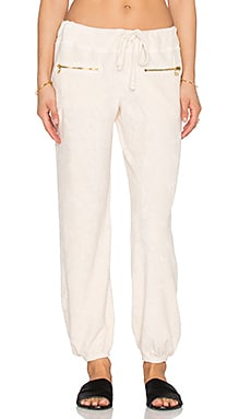 SUNDRY Zip Sweatpant in Natural