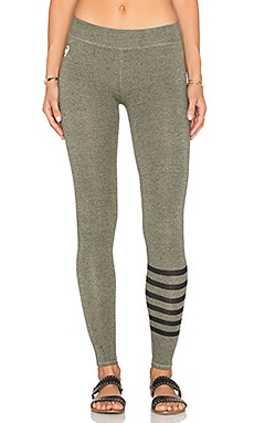 SUNDRY Stripes Yoga Pant in Olive