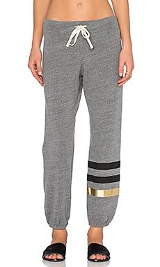 SUNDRY Classic Striped Sweatpant in Heather Grey