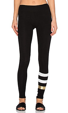 SUNDRY Striped Yoga Pant in Black