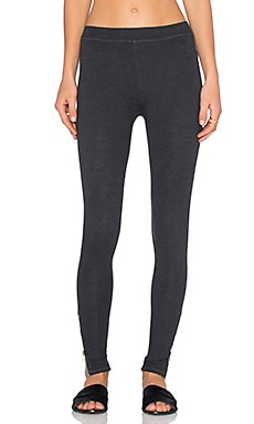 SUNDRY Zip Legging in Charcoal