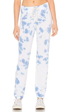 SUNDRY Light Terry Tie Die Sweatpant in Tie Die Fiji