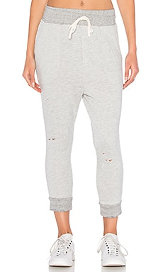 SUNDRY Porkchop Distressed Pocket Pant in Heather Grey