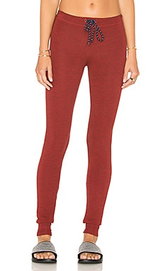 Skinny Sweatpants in Heather Pomegranate