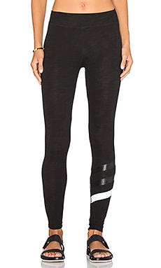 SUNDRY Stripes Yoga Pant in Old Black