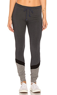Pieced Skinny Sweatpant in Heather Charcoal