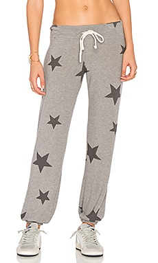 Sweater Knit Sweatpants in Heather Grey Star Pattern