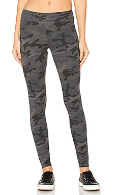 Camo Yoga Pant in Charcoal