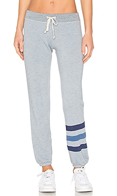 Stripe Sweatpant in Heather Chambray