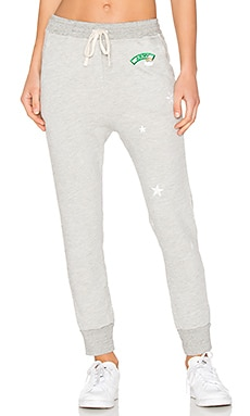 Patches Sweatpant en Gris Chiné