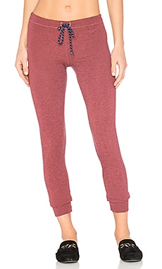 Skinny Sweatpants in Heather Cherry