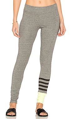 Colorblock Yoga Pants en Gris Chiné