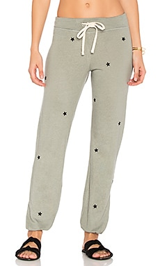Star Patches Sweatpant in Olive