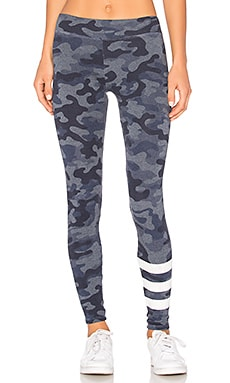 Camo Yoga Pant in Heather Denim