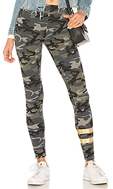 Foil Stripes Camo Yoga Pants