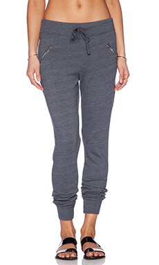 SUNDRY Zipper Sweatpant in Charcoal