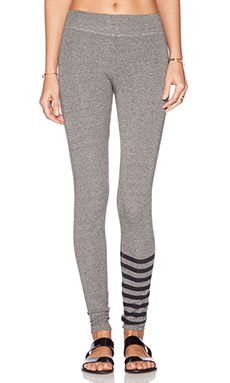 SUNDRY Stripe Yoga Pant in Heather Grey