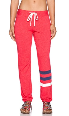 SUNDRY Classic Sweatpant in Cherry