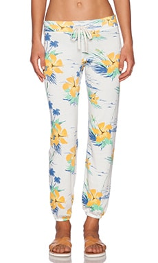 SUNDRY Tropical Classic Sweatpant in White