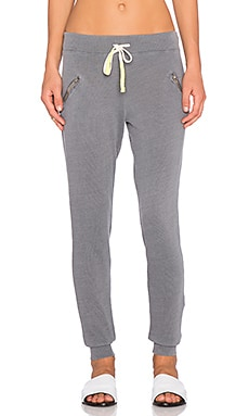 SUNDRY Zipper Sweatpant in Coal Pigment