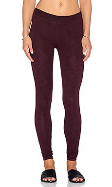 SUNDRY Yoga Pant in Burgundy