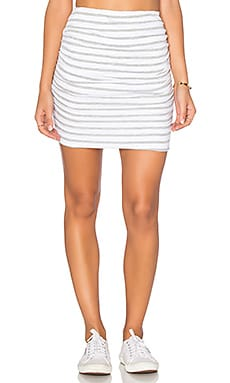 Striped Ruched Mini Skirt